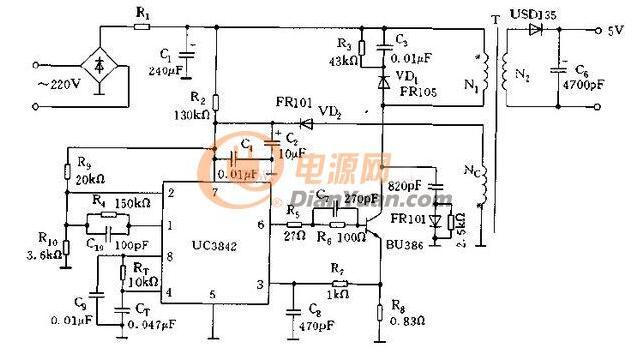 图】一种UC3842的供电电路分析电源电路电路图维库电子市场网