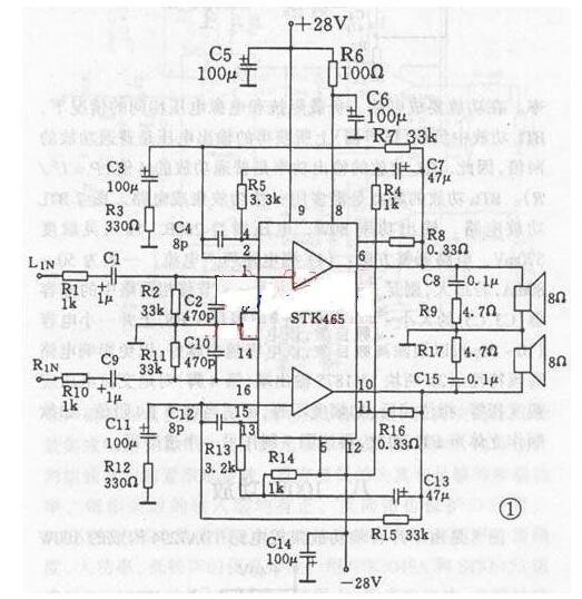 双声道音频功率放大器电路图分析