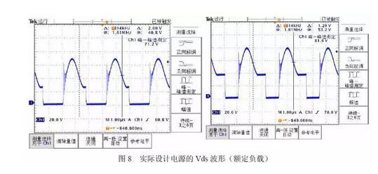 通过对实际电路功率mosfet的漏-源极电压波形实测,可以看出这种