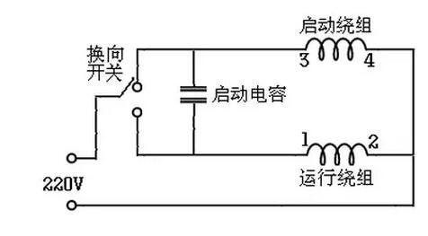 220v交流电机正反转_220V交流单相电机启动方式以及接线图-设计应用-维库电子市场网