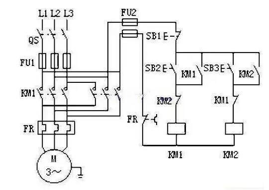 双重联锁正反转控制电路