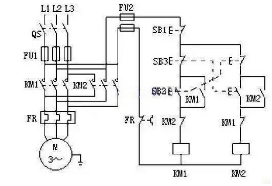 自动往返控制电路原理图