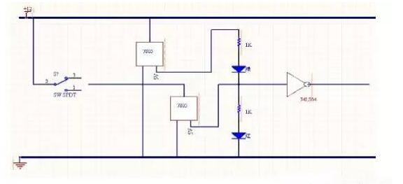 3,门磁检测报警电路