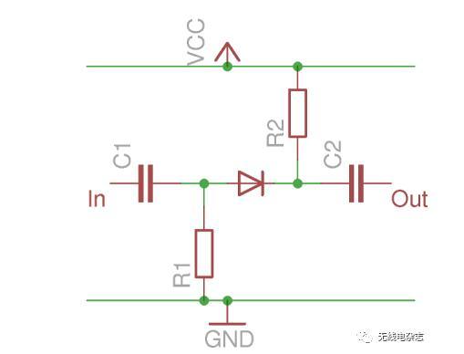 电路,通过直流偏置的状态来调节二极管的导通状态