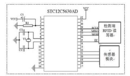 检测模块的部分电路原理图