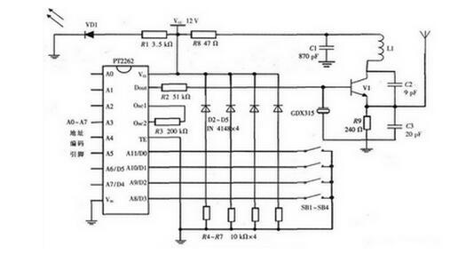 一种照明控制开关发射与接收系统的电路设计方案