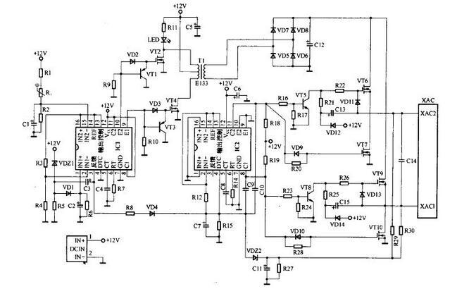 一款常见车载逆变pk10计划电路图及原理