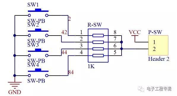 八位拨码开关电路原理图设计