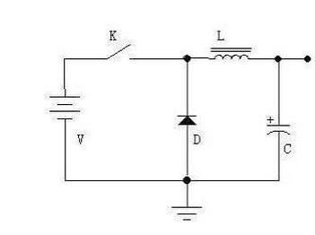 电路由开关k(实际电路中为三极管