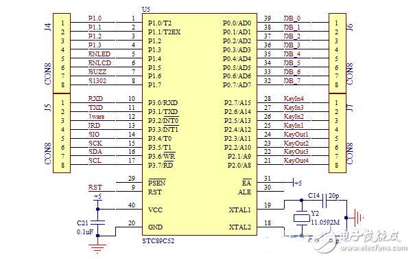 单片机rs485通信接口,控制线,原理图及程序教学实例