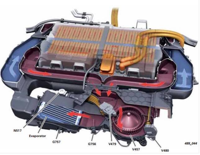 brcm j840模块通过lin总线控制电池风扇1 v457,通风管道定位电机1