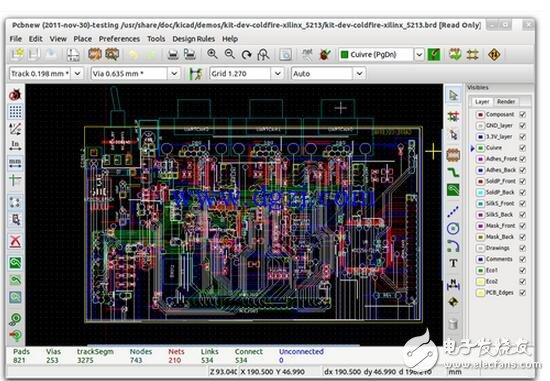 我们榜单上的第一个是来自Mirko Bruno Sortini的ZentiPCB平台,该平台提供了一系列的免费软件以帮助用户设计自己的PCB。ZentiCapture允许用户快速而轻松地使用功能简单的工具集设计原理图,其允许用户通过正交锁定和引脚捕捉来放置部件(组件符号)。一旦原理图(以图表的形式)完成后,它们就可以移植到ZentiPCb上面。    ZentiPCB是一个基于CAD的程序,其允许用户导入网表文件和使其图表可视化。布局编辑器提供了使用游标直接从库导入组件的功能,根据需求的不同支持单面和