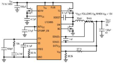 Linear推出高压 IC 可取代汽车浪涌抑制器件