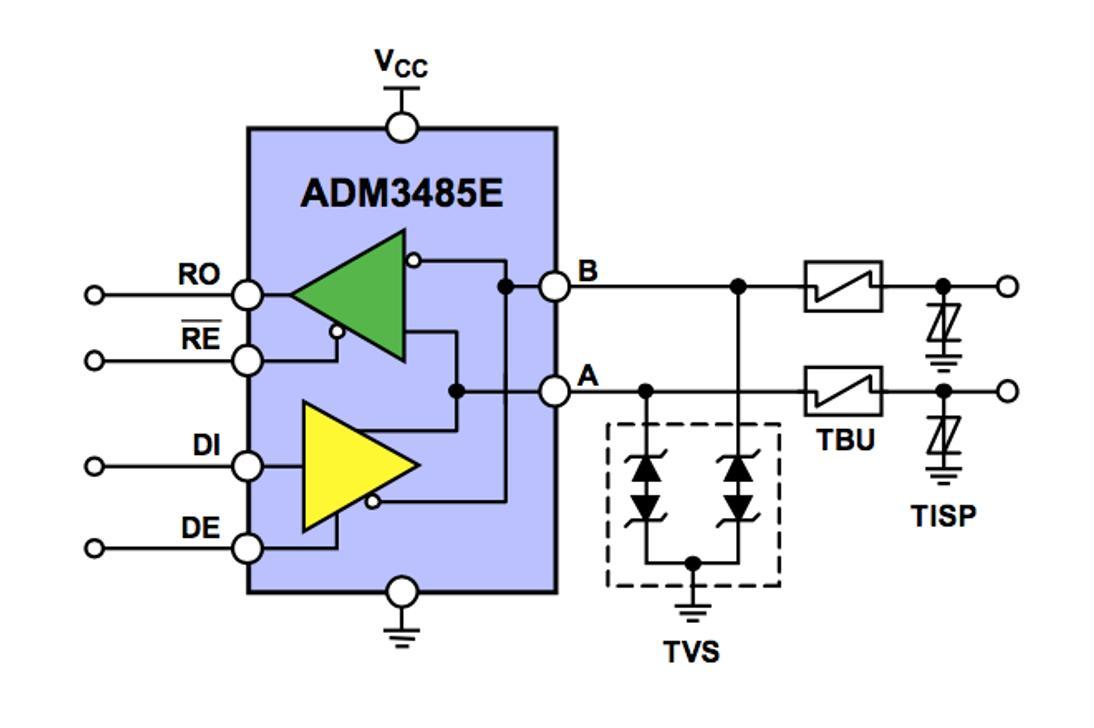 原来全是套路!三个经典的RS-485端口EMC防护方案详解