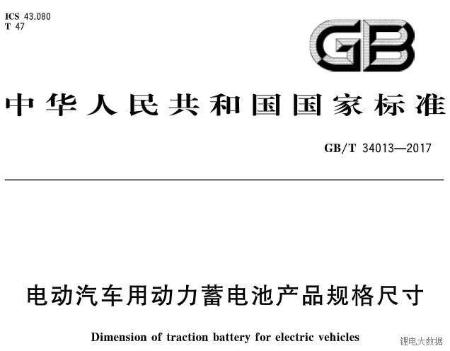 动力电池规格尺寸标准统一 企业生存竞争加剧