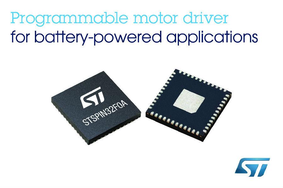 意法半导体推出内置32位MCU的电机驱动器
