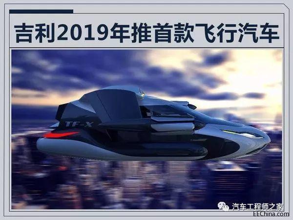 吉利将产飞行汽车!李书福表示2019年上市
