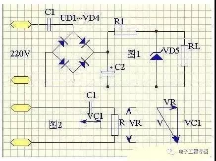 由于电容降压电源提供的的是恒定电流,近似为恒流源,因此一般不怕负载