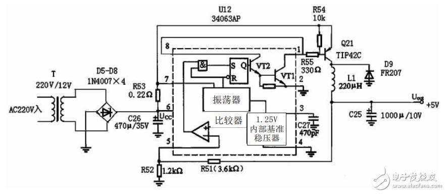 MC34063AP开关电源原理及检修