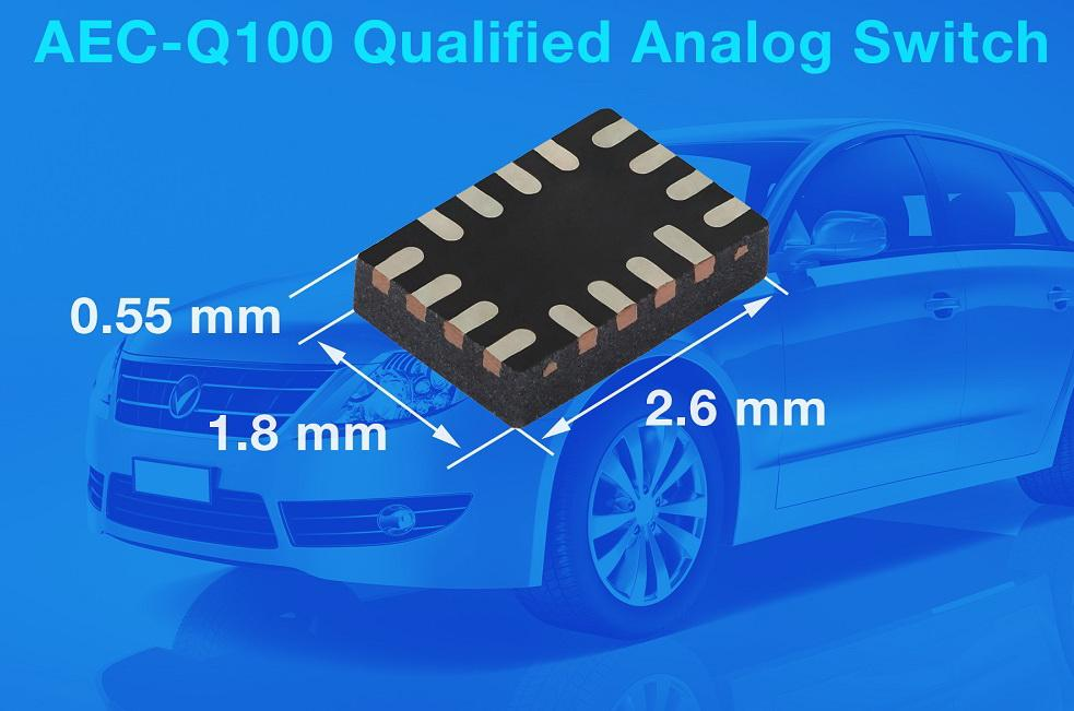 Vishay首颗通过AEC-Q100认证的模拟开关提高信号完整性和带宽
