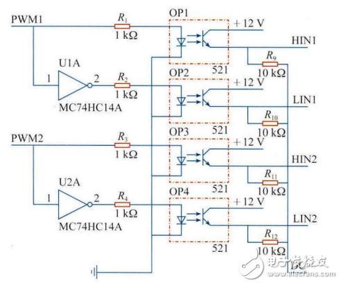 光耦隔离电路