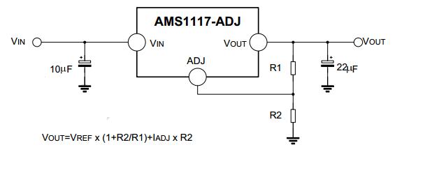 ams1117稳压电路图(1.2v,1.8v,3.3v,5v)
