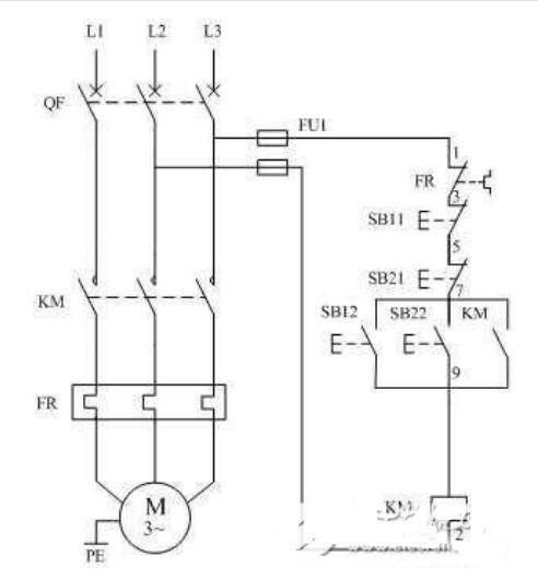 电动机的异地控制   本篇以两地控制电动机为例.