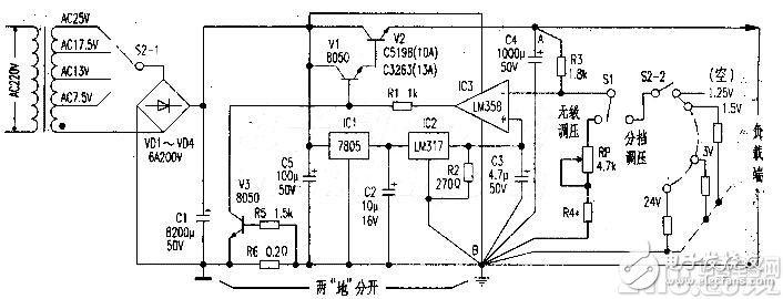 高稳定大电流直流可调稳压电源方案
