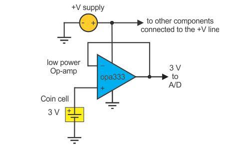 携式设备系统中纽扣电池电压等级监控