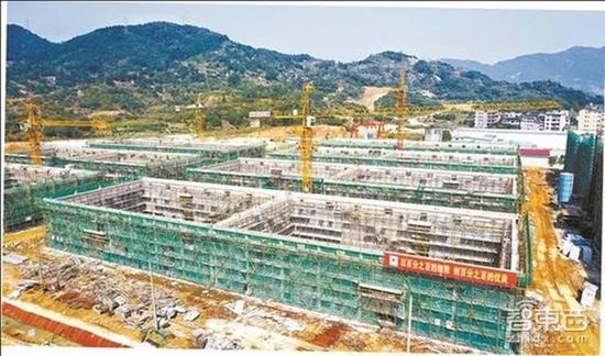 ▲宁德时代建设中的湖西生产基地