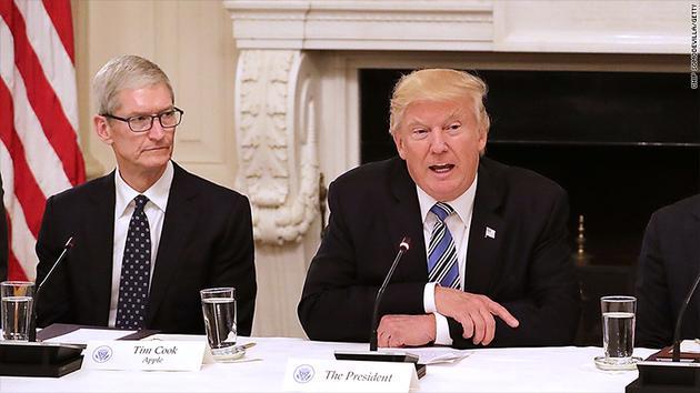 库克、特朗普白宫密谈中美贸易 官方称会面顺利