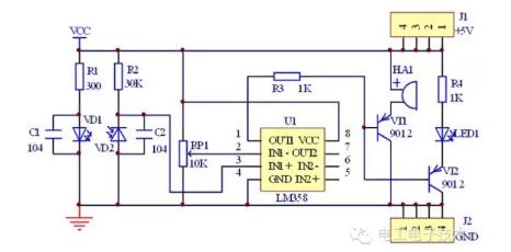 �t外二�O管感���路原理�D分析