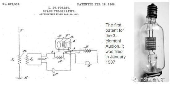 三极管的专利原文 1907年1月提交
