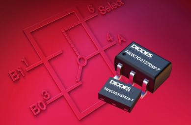 Diodes推出单刀双掷模拟开关产品,设计用于数字或模拟信号的多路复用
