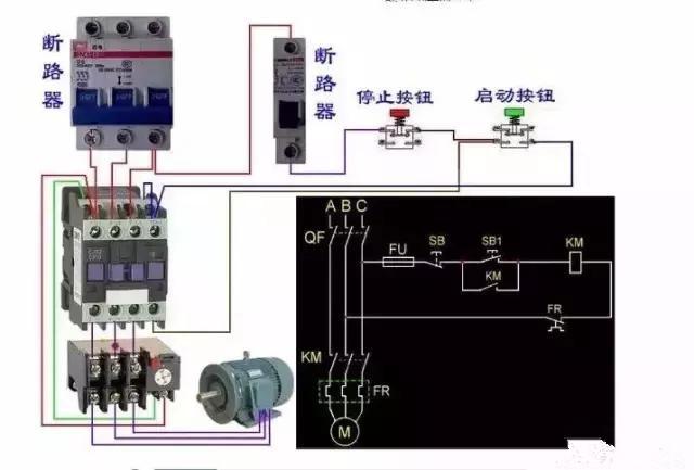 交流接觸器的接線方式以及接線圖