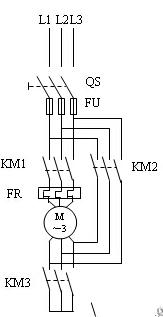 星三角降压启动plc梯形图电路图