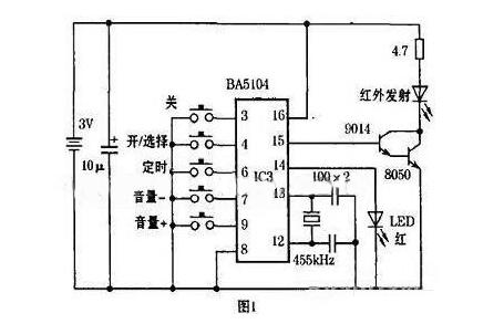 用BA5104/BA8206设计音响红外遥控电路