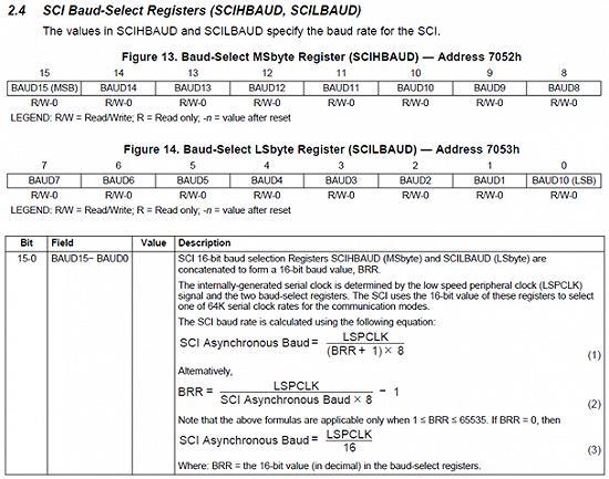 DSP28035_波特率的设置