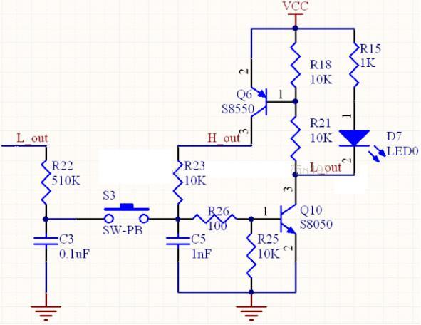 三极管一键开关机电路