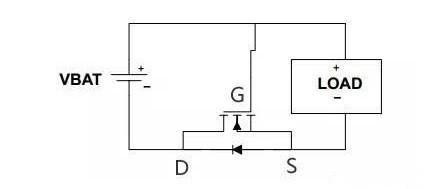 MOS管为什么可以防止电源反接?
