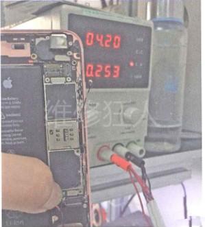 iPhone6S手机进水后耗电快的修理方法