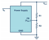 电源设计中的分压器调节输出电压