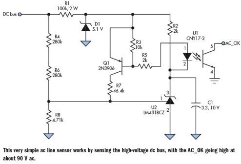 交流传感器在电路感应高压直流总线中的应用