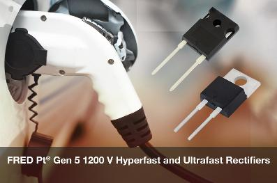 Vishay推出FRED Pt第5代1200 V Hyperfast和Ultrafast恢复整流器