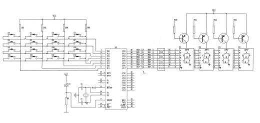 51单片机矩阵式键盘的编程方法