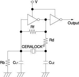 陶瓷谐振器振荡电路元件的作用