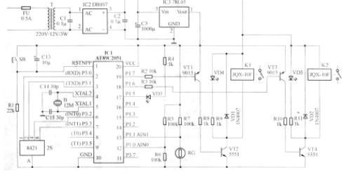 AT89C2O5l单片机对双路路灯照明控制器的设计