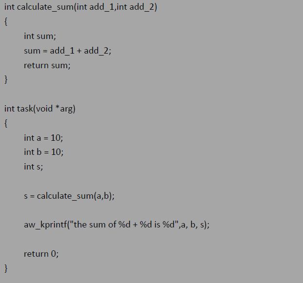 AWorks�程:嵌入式C�Z言的�却婀芾�