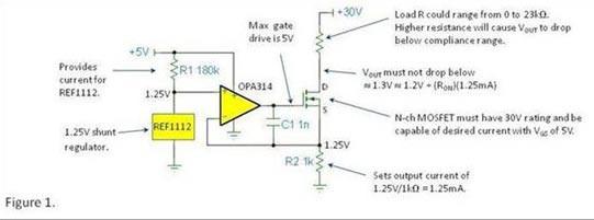 电流源(以及电流阱)——对顺从电压范围的理解