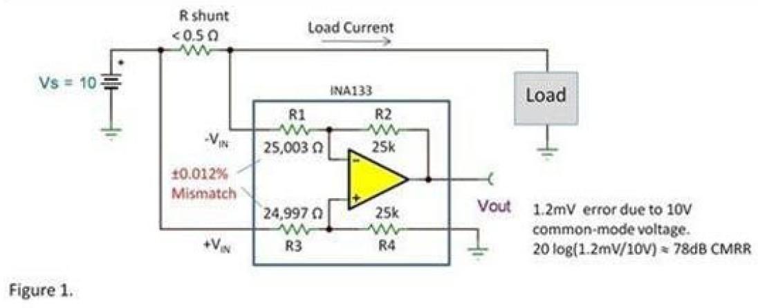 差动放大器:良好匹配电阻器不可或缺的器件